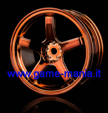 102017C - 4 cerchi a 5 razze RAME METALLIZZATO offset +3mm by MST