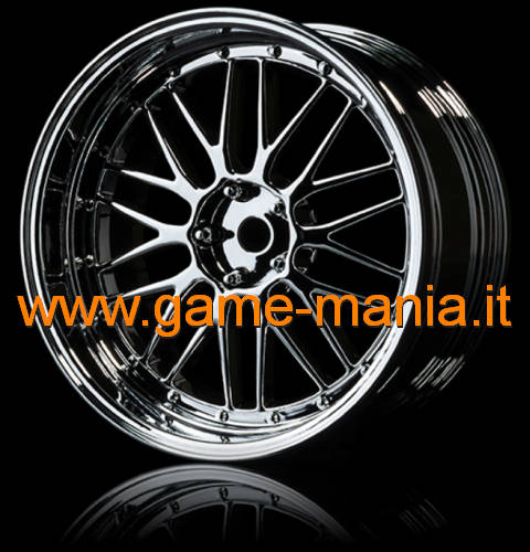 102081S - 4 cerchi a 10 razze sdoppiate CROMO offset modificabile by MST