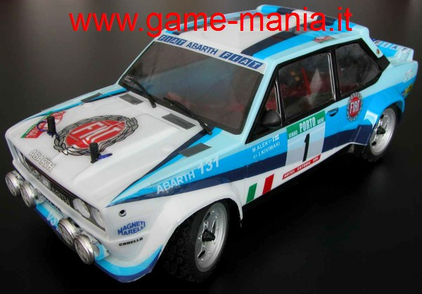 FIAT 131 ABARTH WRC painted 1/10 RTR RC model by EZ