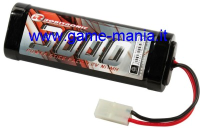 Batteria 7,2V stick pack 3000Mah Ni-Mh by Robitronic