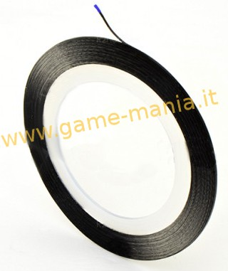 Black clean removal masking / lining tape - 0.7mm !!