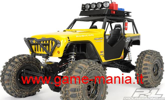 JEEP WRANGLER in lexan trasparente per Axial WRAITH by Pro-Line