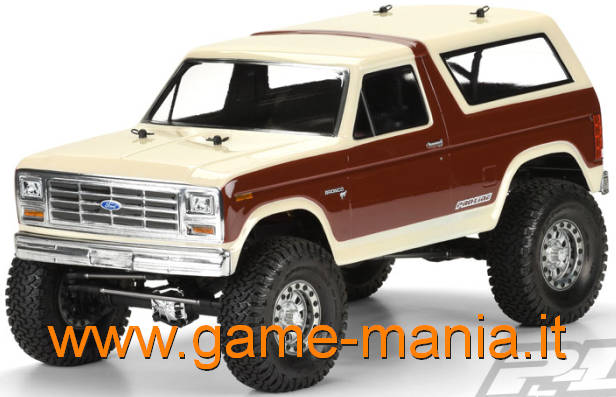 FORD BRONCO 1981 trasparente per scalers passo 317mm by Pro-Line