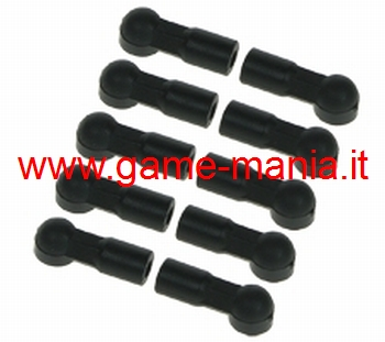 Giunti uniball nylon lungh. 15mm per sfere da 4.8mm by 3Racing