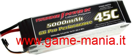 Lipo 5000Mah 3S1P 45C/90C picco by Thunder Power