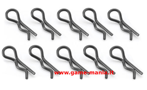 Clips carrozzeria nere (10pz.) da 15mm ricurve by Carson