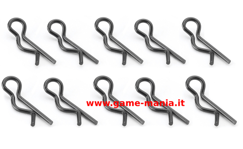 Clips carrozzeria nere (10pz.) da 20mm by Carson