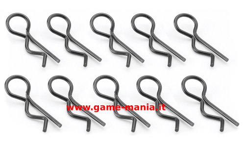 Clips carrozzeria nere (10pz.) da 24mm by Carson