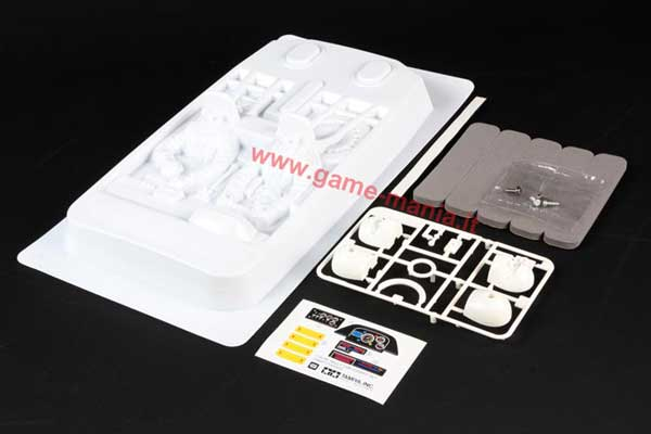Left hand drive DRIVER AND NAVIGATOR cockpit for 1/10 bodies by Tamiya