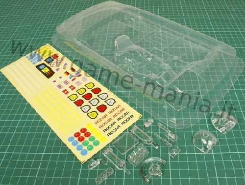 Right-hand drive clear lexan cockpit and pilot for 1/10 cars