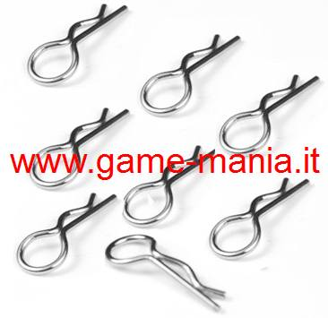 Clips carrozzeria ripiegate all'insù (8pz) by Athena/RK