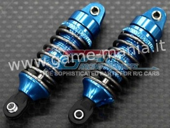 048mm LBLUE oil dampers w/alloy threaded body 1/16 E-Revo by GPM