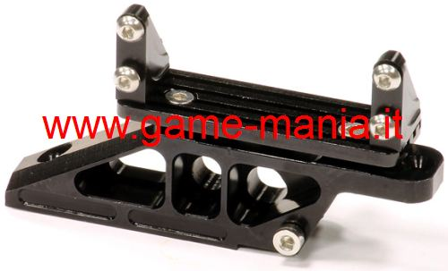 Supporto 4-links + servo IN LEGA nero ponte ANT. Wraith by Integy