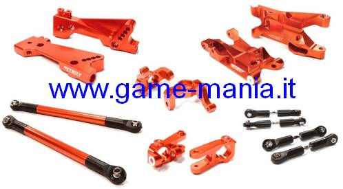 Kit sospensioni IN LEGA ROSSO per Twin Hammers by Integy