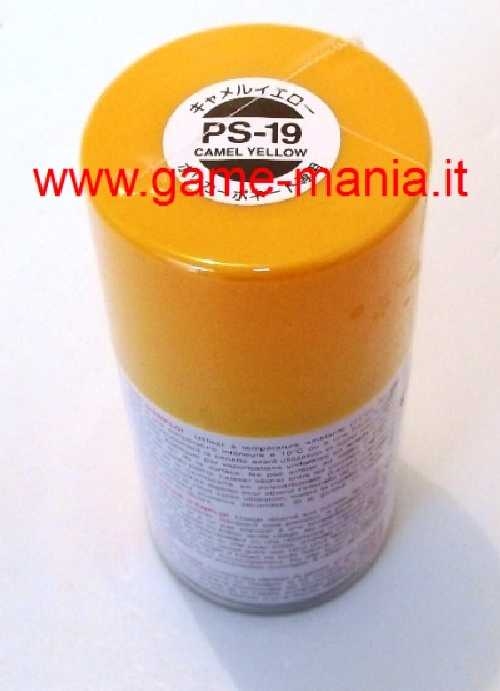 Vernice spray GIALLO/ARANCIO CAMEL PS-19 per Lexan by Tamiya