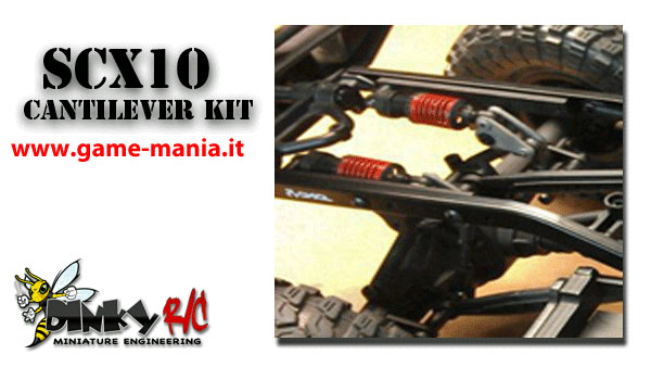SCX-10 REAR cantilever suspension conversion kit by Yeah Racing