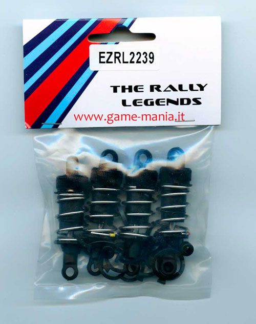 Ammo 55mm (x4) in plastica neri by Rally Legends