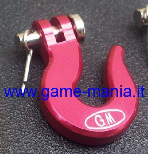 Scale winch RED anodized ALLOY hook by Game-Mania