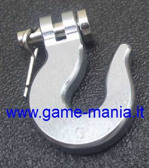 Scale winch SILVER anodized ALLOY hook by Game-Mania