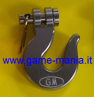Scale winch SMOKE anodized ALLOY hook by Game-Mania