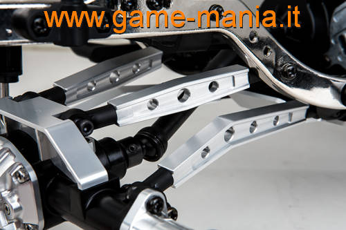 Links superiori M3 IN LEGA argento lunghi 54mm per Komodo by Gmade
