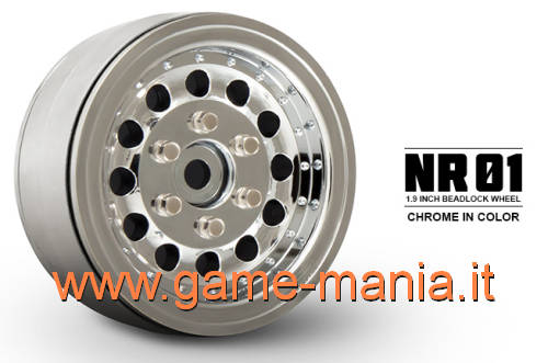 "1.9"" CHROME NR01 rims with real internal beadlock by Gmade (2x)"