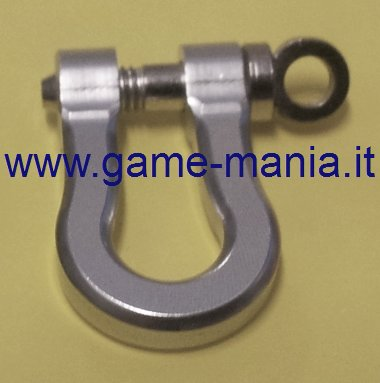 1/10 scale SILVER anodized ALLOY tow shackle by Game-Mania