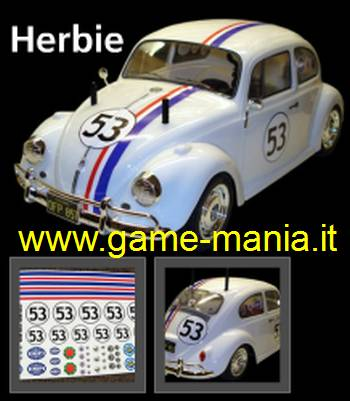 """HERBIE"" - 1/10 onroad sticker set by SPD"