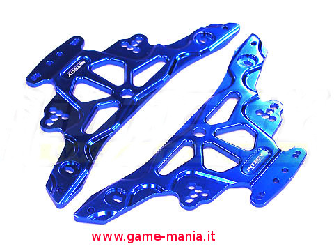 Blue alloy main chassis for Losi MRC e Vaterra Slickrock by Integy