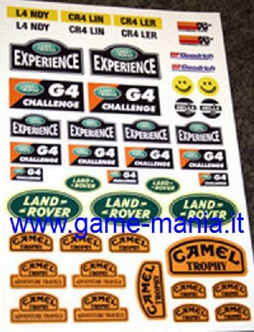 Set adesivi offroad LAND ROVER G4 - CAMEL TROPHY by SPD