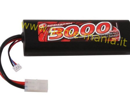 Batteria LiPo 7,4V stick pack 3000Mah 20C by Robitronic