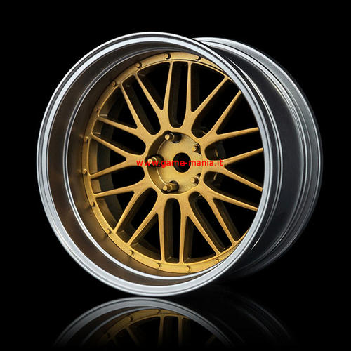 102081GD - SILVER / GOLD offset changeable 10 double-spokes nylon rims (4 pcs) by MST