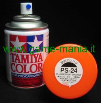 Vernice spray ARANCIONE FLUO PS-24 per Lexan by Tamiya