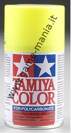 Polycarbonate PS-27 FLUORESCENT YELLOW paint spray can by Tamiya