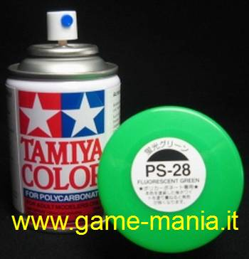 Vernice spray VERDE FLUORESCENTE PS-28 per Lexan by Tamiya