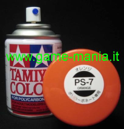 Vernice spray ARANCIONE PS-7 per lexan by Tamiya