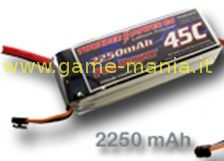 Lipo 2250Mah 3S1P 45C/90C caricabili a 6C by Thunder Power
