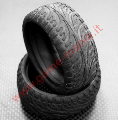 2 gomme radiali in lattice (35 shore) x auto 1:10 - 26mm by GPM