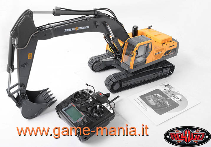 Escavatore IDRAULICO radiocomandato 1:14 Earth Digger 360L by RC4WD