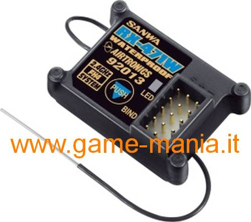 Ricevente 4 canali RX-471WP 2.4Ghz FHSS WATERPROOF by Sanwa