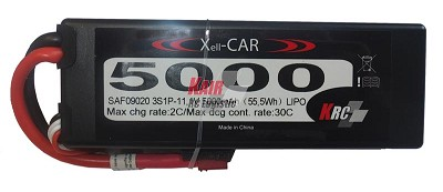 5000Mah LiPo hardcase 3S1P pack 11.1V 30C/60C battery by RCS