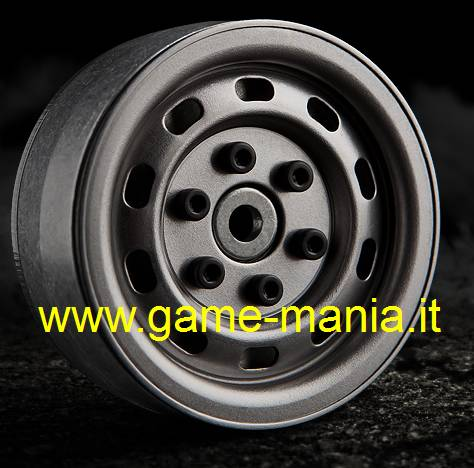 "1.9"" UNCOATED STEEL SR02 rims - beadlock by Gmade (2x)"