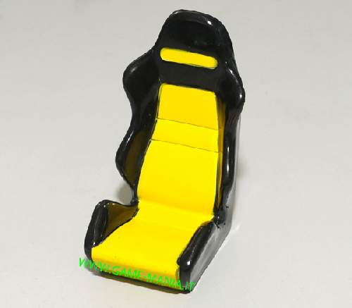 Sedile sportivo GIALLO guidatore on-offroad scala 1:10 by RC4WD