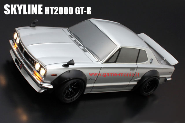 NISSAN SKYLINE HT2000 GT-R over fender clear polycarbonate body w/light bucket by ABC hobby