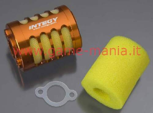 SILVER anodized alloy air filter for HPI Baja 5B by Integy