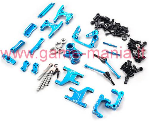 Set conversione 4link IN LEGA BLU per Tamiya CC-01 by Yeah Racing