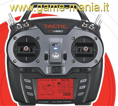 TTX850 trasmittente a stick 8 canali programmabile by Tactic