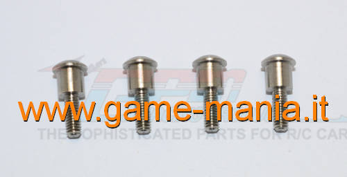 Hub STEEL pivot pins for TRX-4 by GPM