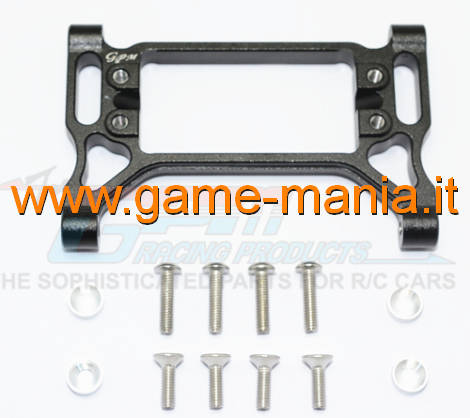 Black ALLOY servo support for Traxxas TRX-4 by GPM