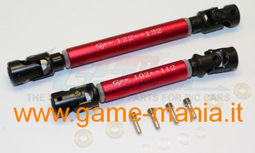 Cardanic RED STEEL transmission shafts for Traxxas TRX-4 by GPM